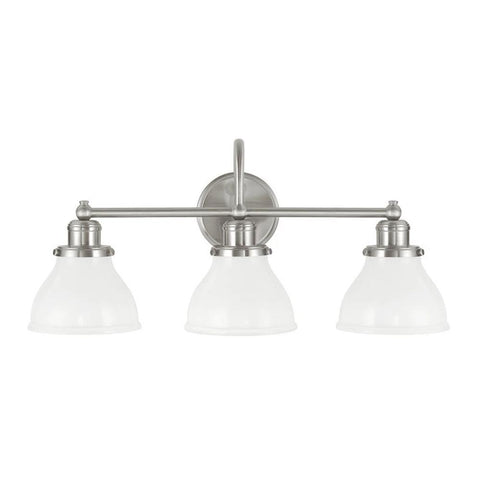 3 Light Baxter Vanity by Capital Lighting in Brushed Nickel 8303BN-128