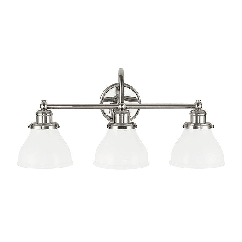 3 Light Baxter Vanity Light by Capital Lighting in Polished Nickel 8303PN-128