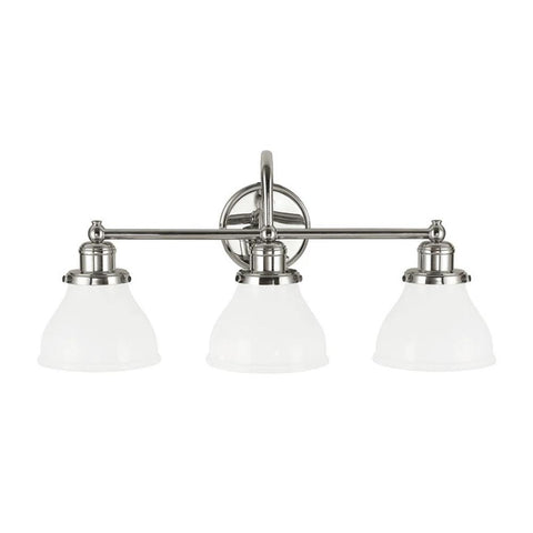 3 Light Baxter Vanity by Capital Lighting in Polished Nickel 8303PN-128