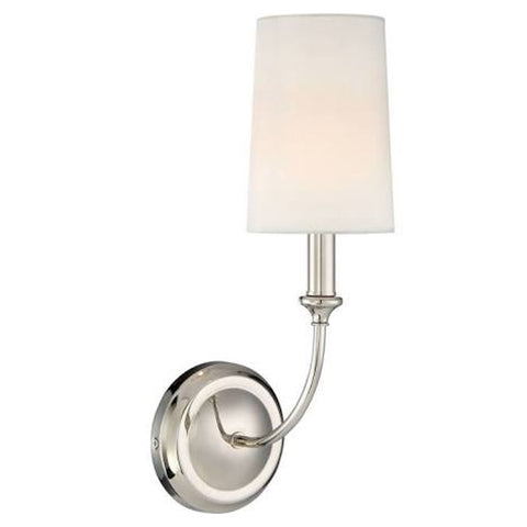 Sylvan 1 Light Sconce in Polished Nickel by Crystorama 2241-PN