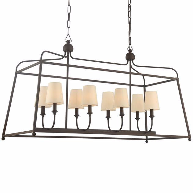 Sylvan Linear Chandelier by Crystorama in Dark Bronze 2249DB