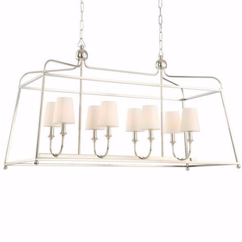 Sylvan Linear Chandelier by Crystorama in Polished Nickel 2249PN