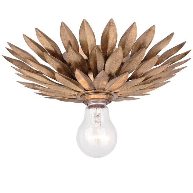 Crystorama 1 Light Broche Ceiling Mount in Antique Gold 500-GA_CEILING