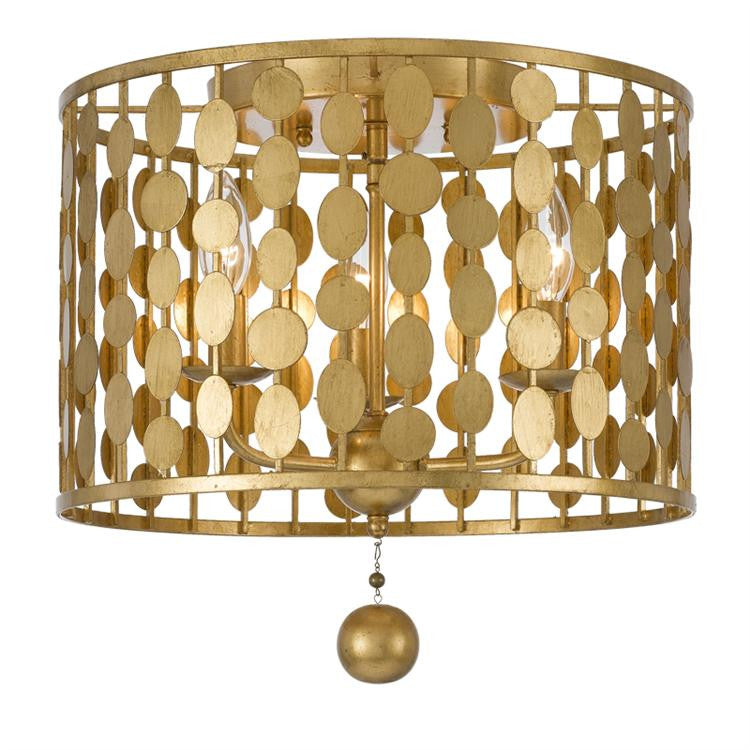 Crystorama Layla Ceiling Mount in Antique Gold 544-GA