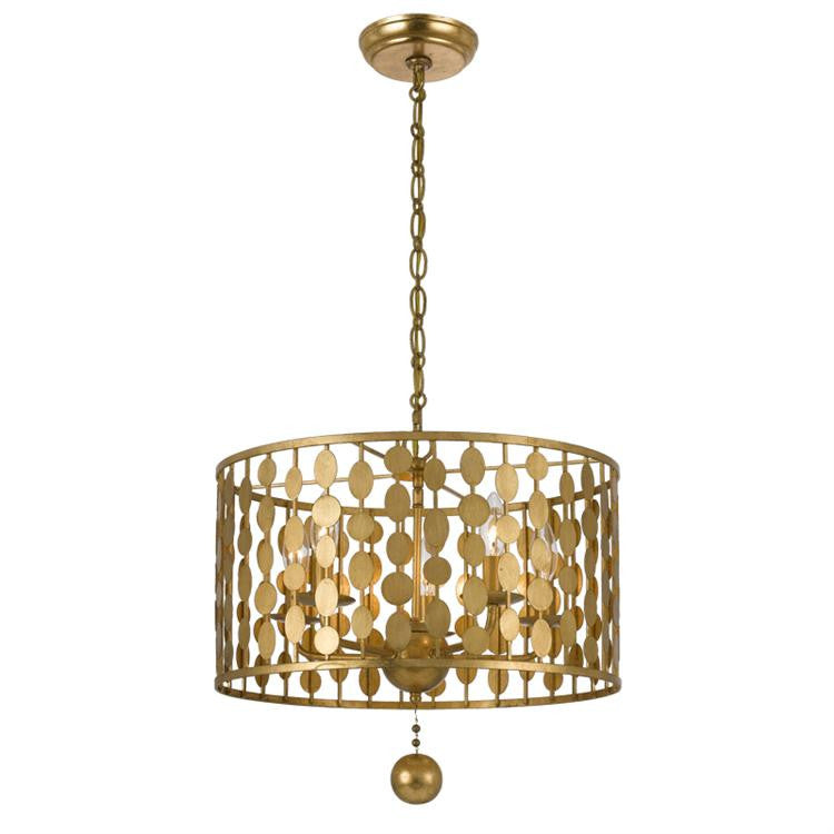 5 Light Layla Chandelier in Antique Gold by Crystorama 545-GA
