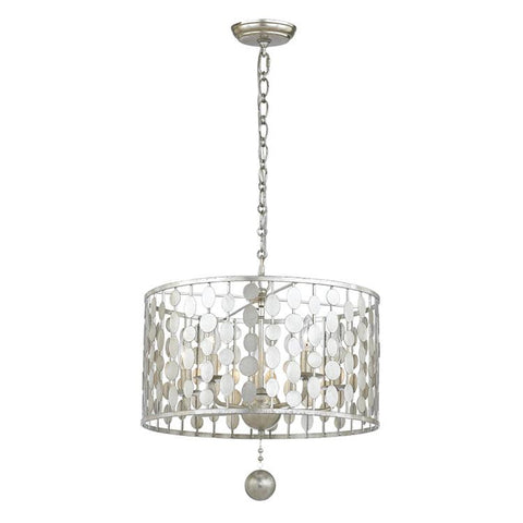 5 Light Layla Chandelier in Antique Silver by Crystorama 545-SA