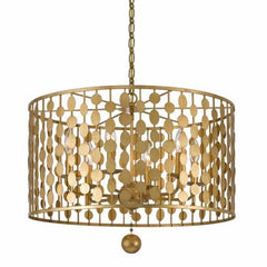 6 Light Layla Chandelier in Antique Gold by Crystorama 546-GA