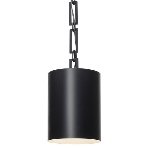 Alston 1-Light Mini Chandelier in Matte Black, by Crystorama Lighting, 8680-MK