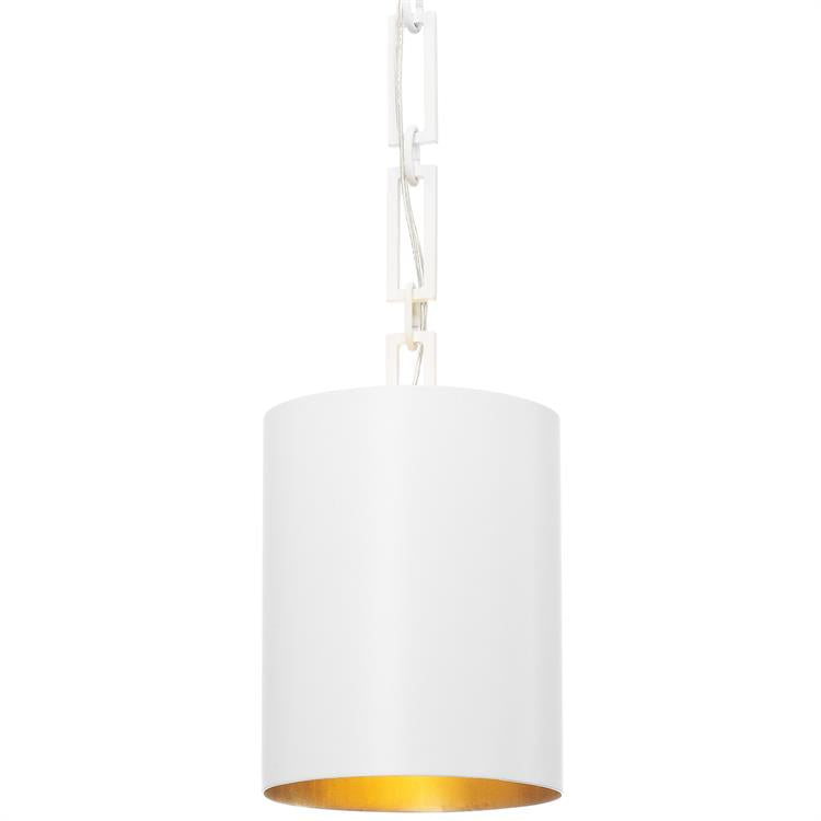 Alston 1-Light Mini Chandelier in Matte White/Antique Gold, by Crystorama Lighting, 8680-MT-GA