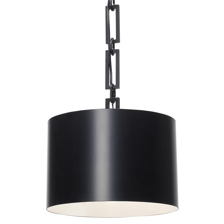 Alston 1-Light Chandelier in Matte Black, by Crystorma Lighting, 8683-MK