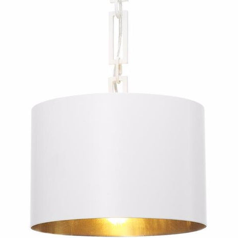 Alston 1-Light Chandelier in Matte White/ Antique Gold, by Crystorama Lighting, 8683-MT-GA