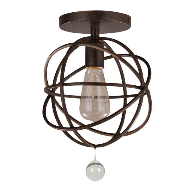 solaris orb ceiling mount by crystorama in english bronze - Crystorama