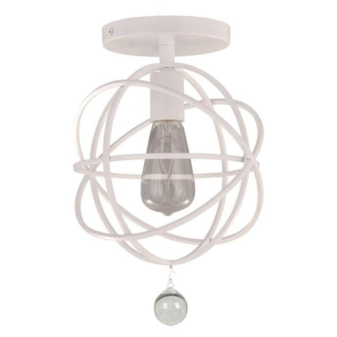 Solaris Orb Ceiling Mount by Crystorama in Wet White 9220-WW_CEILING