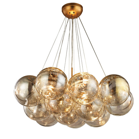 Cielo Antique Gold Leaf Finish with Clear Glass by Dimond Lighting, 1140-010