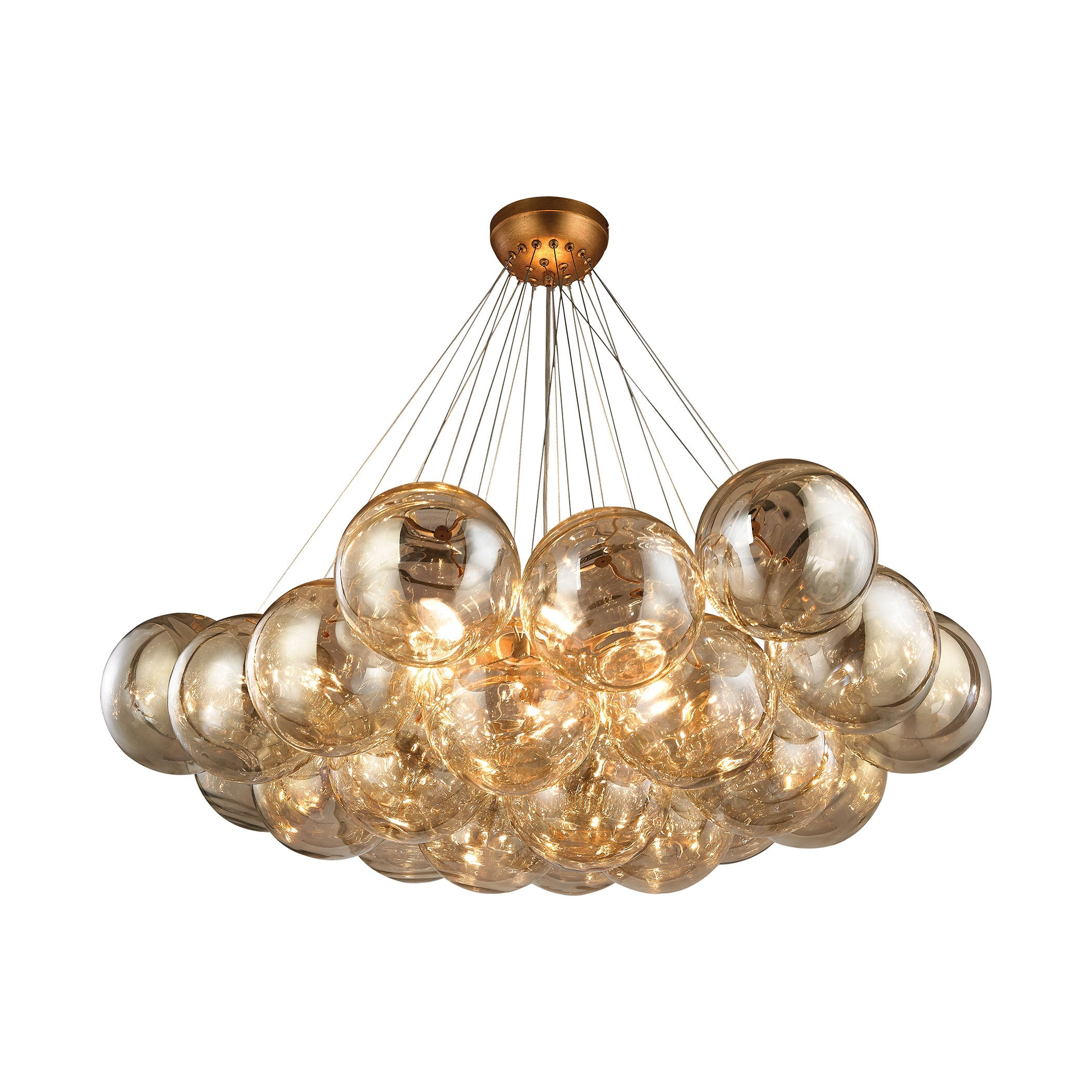 Cielo Antique Gold Leaf Finish with Clear Glass by Diamond Lighting, 1140-011