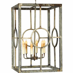 Hampton Lantern by Ella Home in Deep Ocean | Open Cage Lanterns | Lighting Connection