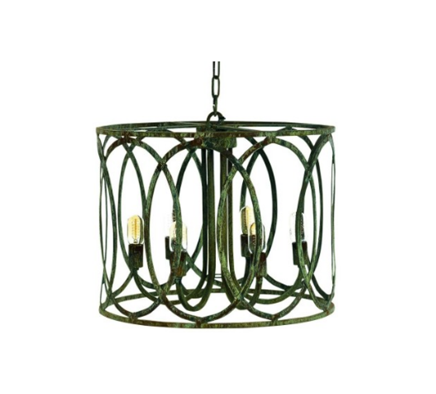 Ella Home Medium New Orleans Pendant in grey Deep Ocean PD10