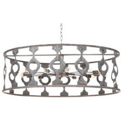 Ella Home Balustrade Large Pendant in grey Deep Ocean PD35L