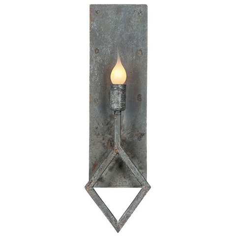 Ella Home transitional wrought iron Sarah Wall Sconce in distressed grey Deep Ocean finish SC35