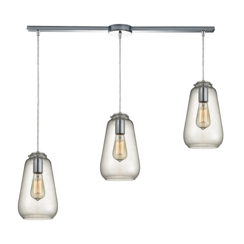 Orbital 3 light Chandelier in Polished Chrome by Elk Lighting ( EK-10423/3L) | Lighting Connection