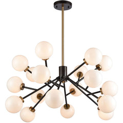 Levity 18 Light Chandelier in Satin Brass and Oiled Bronze by Elk Lighting 1140-067