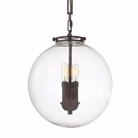 Gramercy Globe 3 Light Pendant in Oill Rubbed Bronze by Elk Lighting 16372/3