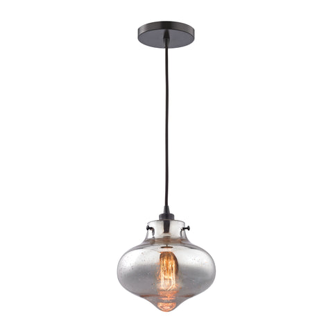 Kelsey Pendant in Oil Rubbed Bronze/ Mercury Glass by Elk Lighting (EK-31955/1) | Lighting Connection