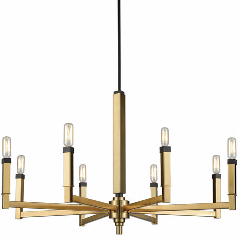 Large Mandeville Chandelier by Elk Lighting in Satin Brass and Oil Rubbed Bronze 67758/8