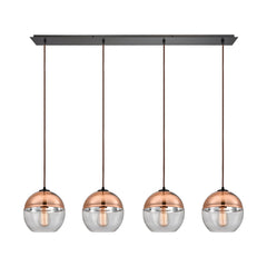 Revelo 4 Light Linear Pendant in Oil Rubbed Bronze by Elk Lighting, 10490/4LP