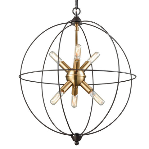 Loftin Chandelier, Oil Rubbed Bronze with Satin Brass Accents by ELK Lighting, 14511/6