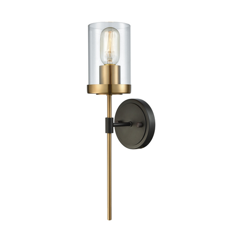Merveilleux North Haven Satin Brass And Oil Rubbed Bronze Wall Sconce By Elk Lighitng  14550/1
