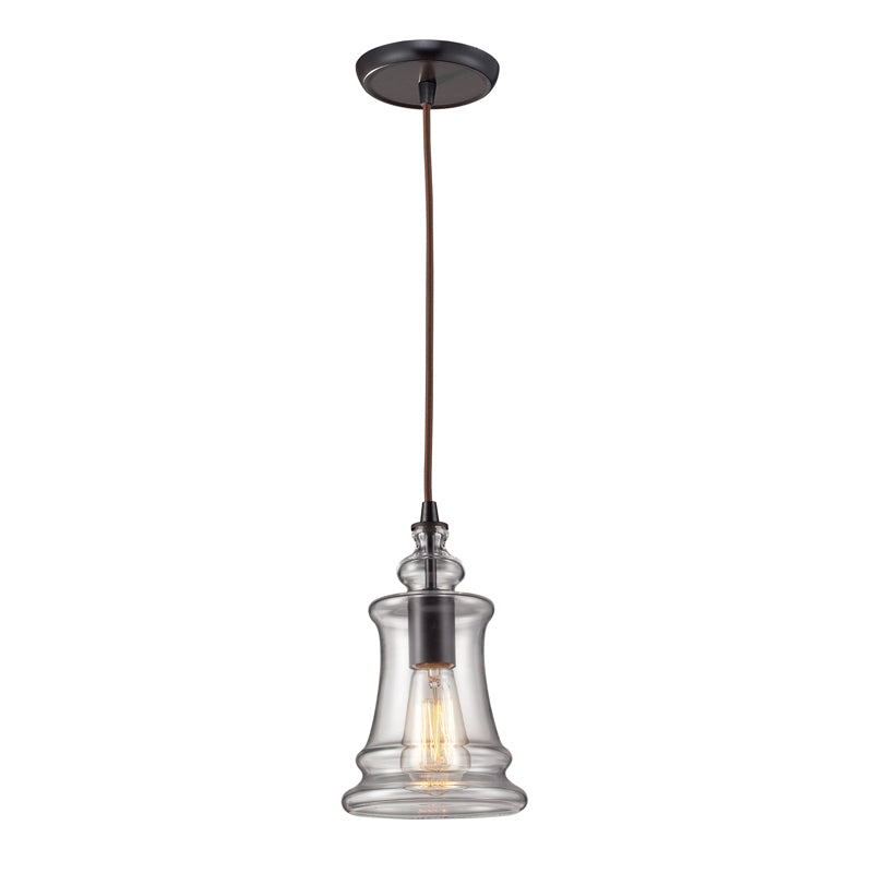 Menlow Park Pendant in Oiled Bronze, by ELK Lighting, 60042-1