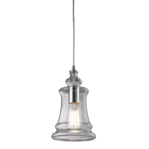 Menlow Park Pendant in Polished Chrome, by ELK Lighting, 60052-1
