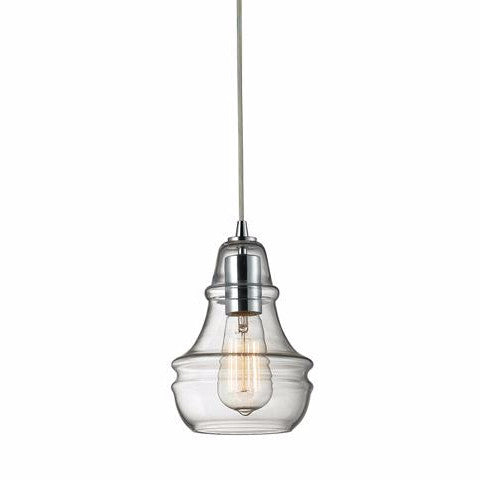 Menlow Park Pendant in Polished Chrome, by ELK Lighting, 60057-1