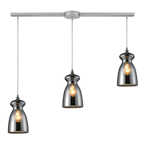 Menlow Park Multi-Light Linear Pendant in Chrome, by ELK Lighting, 60063-3L