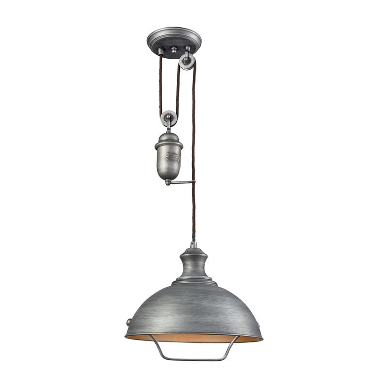 Farmhouse Dome Pulley Pendant By Elk Lighting Lighting