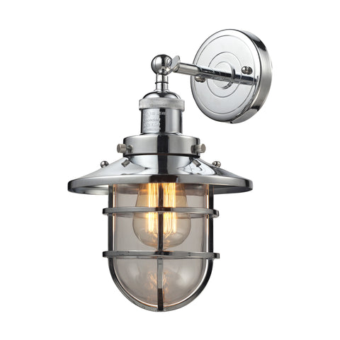 Seaport 1 Light Wall Sconce in Polished Chrome by Elk Lighting 66346-1