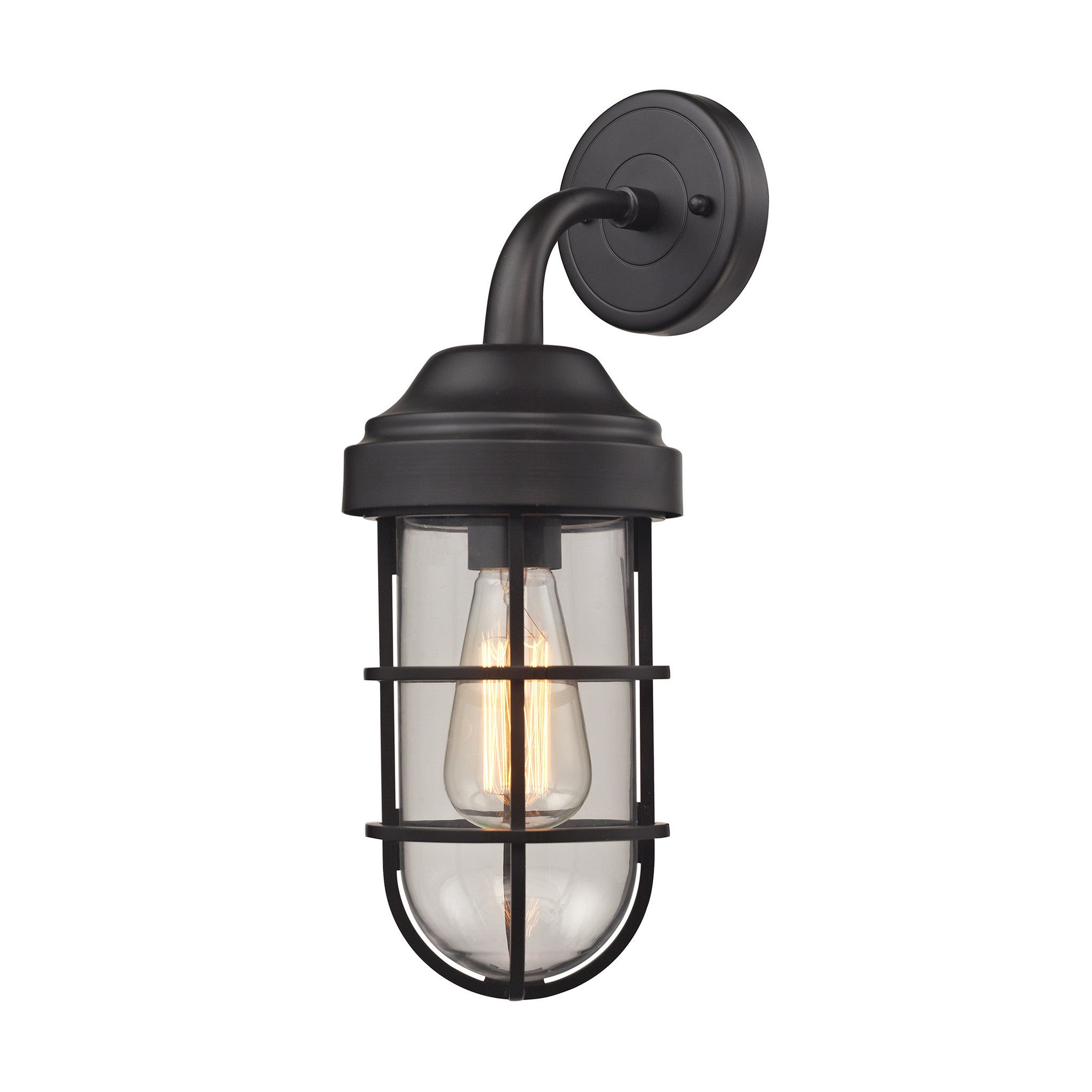 Seaport 1 Light Wall Sconce in Oil Rubbed Bronze by Elk Lighting 66365-1