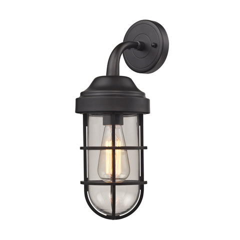 Seaport 1 light wall sconce in oil rubbed bronze by elk lighting 66365 1