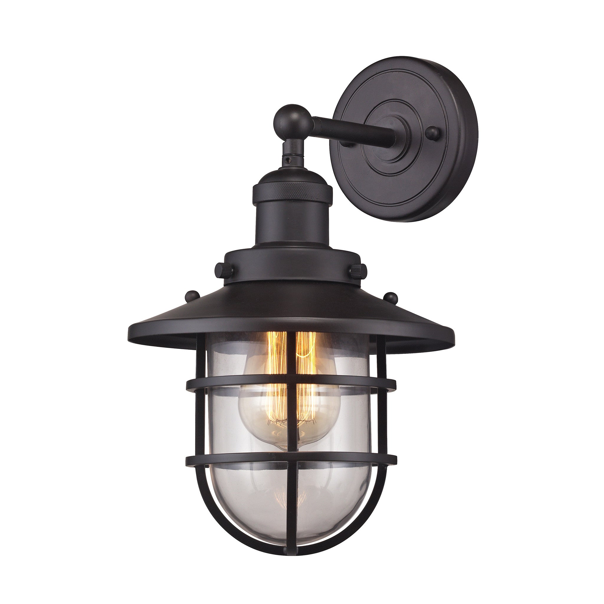 Seaport 1 Light Wall Sconce in Oil Rubbed Bronze by Elk Lighting 66366-1
