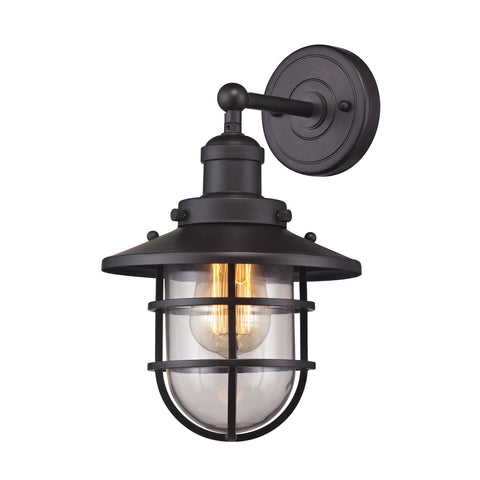 Seaport 1 Light Wall Sconce In Oil Rubbed Bronze By Elk Lighting 66366
