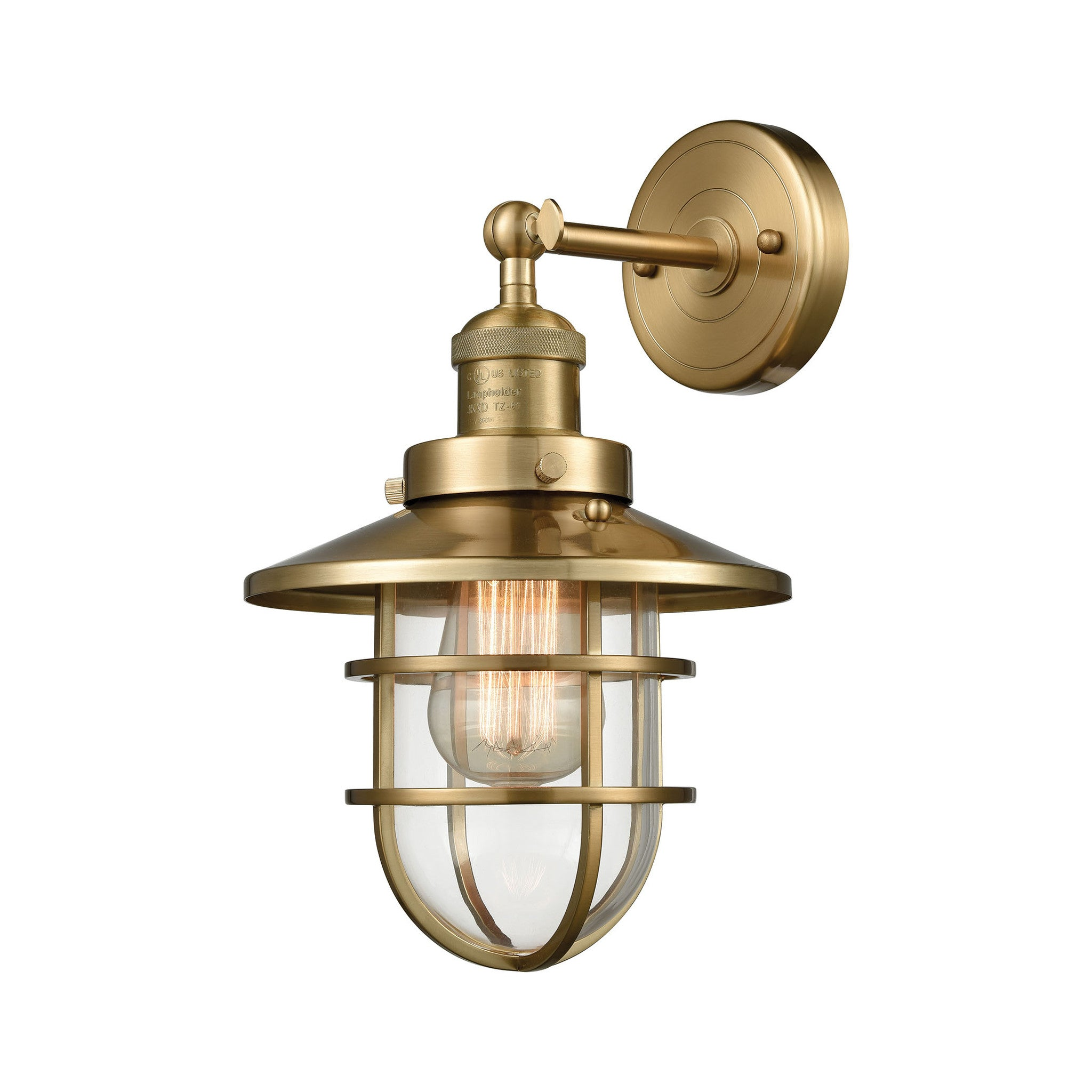 Seaport 1 Light Wall sconce in Satin Brass by Elk Lighting 66386-1