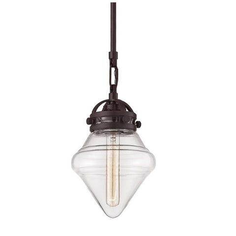 Gramercy 1 Light Blown Glass Pendant in Oil Rubbed Bronze 67125/1