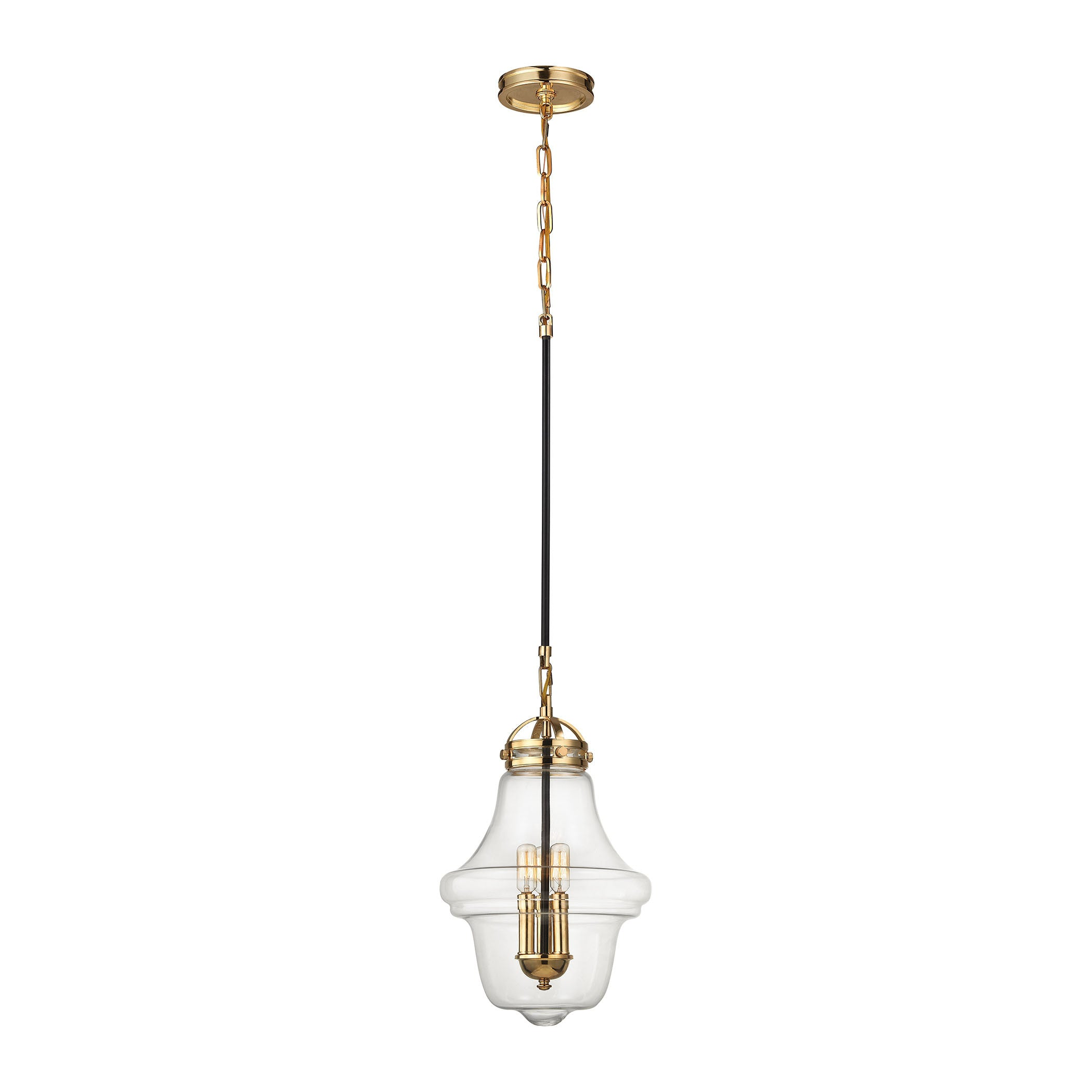 Gramercy Blown Glass Pendant | Brass + Bronze