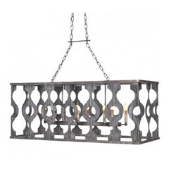 Balustrade Linear Chandelier by Ella Home in Deep Ocean Finish EHCH57