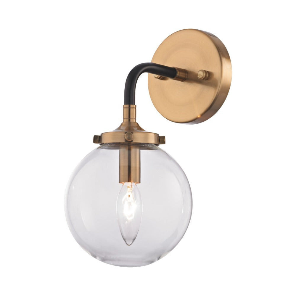 Boudreaux Wall Sconce in Matte Black and Brass by Elk Lighting 14430/1