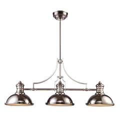 Chadwick 3 Light Linear Chandelier in Polished Nickel by Elk Lighting 66115-3