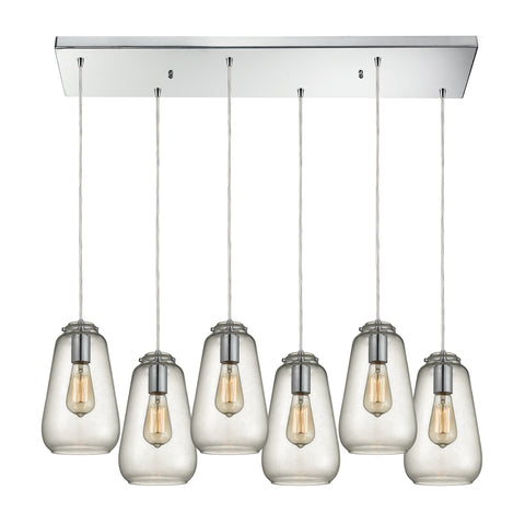 Orbital 6 light Chandelier in Polished Chrome by Elk Lighting ( EK-10423/6RC) | Lighting Connection