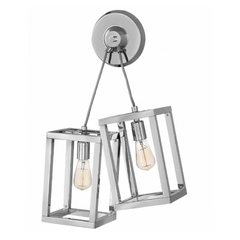 Ensemble 2 Light Sconce in Polished Nickel by Hinkley FR42442PNI