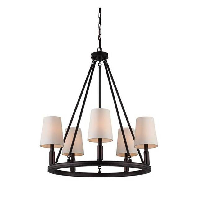 Lismore Chandelier by Feiss in Oil Rubbed Bronze F2922/5ORB